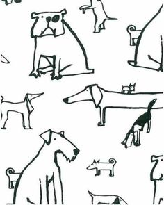 Another adorable dog-print wallpaper.