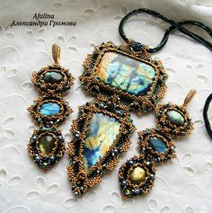 Members of Украшения Afalina. Beaded Jewellery, Beaded Earrings, Beaded Bracelets, Beading Tutorials, Bead Weaving, Beaded Embroidery, Seed Beads, Handmade Jewelry, Stones