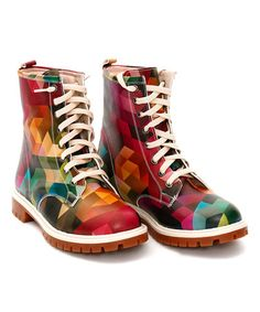 Another great find on #zulily! Rainbow Geometric Combat Boot #zulily finds. love these!!