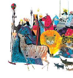 Illustration by Brian Wildsmith for Robert Louis Stevenson's book of poetry for children. Vintage children's illustration Circus Illustration, Children's Book Illustration, Watercolor Illustration, Cover Art, Art Paintings, Book Art, Draw, Robert Louis, Children's Books