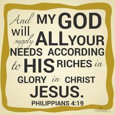 Phillipians 4:19