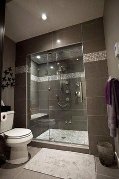 This design lighter brown or grey tile