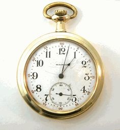 Bright Antique 1885 15 Jewel 18s Waltham Pocket Watch Double Hinged Case Watches, Parts & Accessories