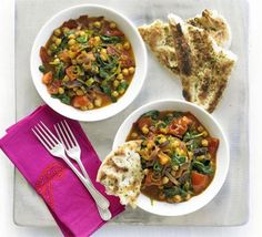 Chickpeas with tomatoes & spinach recipe - Recipes - BBC Good Food