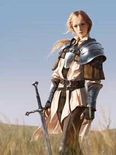 A place to share and appreciate fantasy and sci-fi art featuring reasonably portrayed women. Fantasy Warrior, Warrior Girl, Warrior Concept Art, Armor Concept, Warrior Women, Anime Art Fantasy, Fantasy Artwork, Male Character, Fantasy Character Design