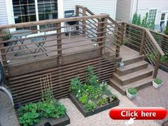 85 Cozy Backyard Patio Deck Design Ideas - Home Decor Gayam Deck Stairs, Deck Railings, Patio Deck Designs, Patio Design, Garden Design, Porches, Deck Skirting, House Skirting, Stairs Skirting