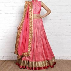 Buy - Pink Designer Lehenga Choli - Online Women Ethnic wear At Peachmode.com