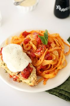 Gluten-Free Chicken Parmesan with Rutabaga Noodles   Inspiralized