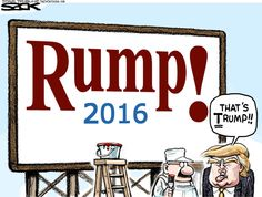 Editorial cartoon by Steve Sack found on theweek.com on Wednesday, June 17, 2015. / Can you say horse's patootie?