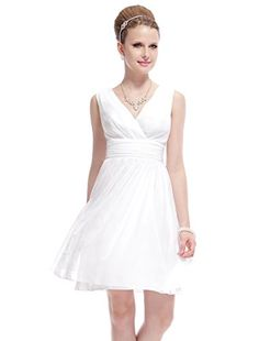 HE03989WH12, Ivory, 10US, Ever Pretty Formal Summer Dresses For Juniors 03989
