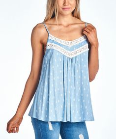 Another great find on #zulily! Blue Embroidered Tank #zulilyfinds