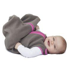 baby deedee Sleep Nest Fleece Sleeping Bag, Slate/Hot Pink, Medium (6-18 months)