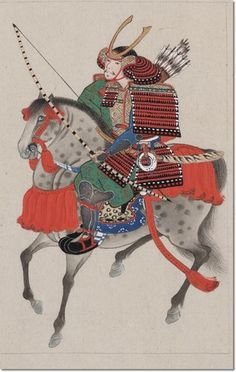 Google Image Result for http://prints.encore-editions.com/0/500/samurai-on-horseback-wearing-armor-and-horned-helmet-carrying-bow-and-arrows.jpg