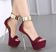 Womens Sexy Ankle Strap Open Toe High Heels Sandals Nightclub Platform Stilettos