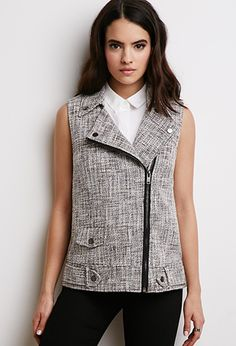 Forever 21 is the authority on fashion & the go-to retailer for the latest trends, styles & the hottest deals. Shop dresses, tops, tees, leggings & more! Outerwear Women, Outerwear Jackets, Tweed Waistcoat, Forever 21 Uk, Shop Forever, Polished Look, Spring Outfits, Black Outfits, Vest Jacket
