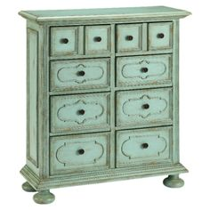 Antiqued style chest of drawers