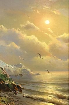 36 Ideas for painting sea scapes waves Landscape Drawings, Landscape Paintings, Sunset Photography, Landscape Photography, Winter Painting, Outdoor Paint, Seascape Paintings, Beach Art, Ocean Waves