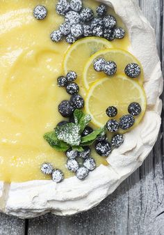 Lemon Curd Pavlova - perfect any time, but especially nice for Easter!