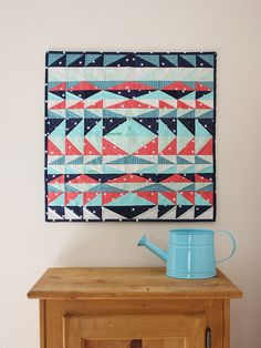 """I'm super digging this """"Mesa Mini Quilt"""" from Michael Ann Made. Free pattern available here: http://www.craftsy.com/pattern/quilting/home-decor/mesa-mini-quilt/152203?SSAID=764856"""