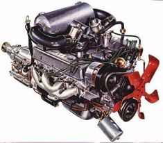 Here's the classic Rover-V8. This is a drawing from the Rover leaflet for the 1972 models.