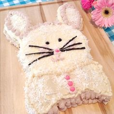 A White Cake Recipe that can be layered or made into a fun Bunny Cake.