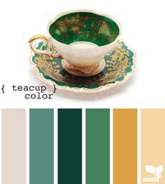 that green yellow and cream look great together!
