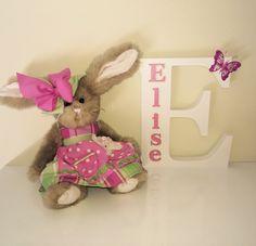Custom designed wooden letter Elise. Nursery decor