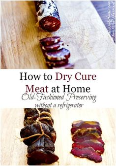 Learn how to preserve and dry cure meat at home like Laura Ingalls and the pioneers. Learning how to cure meat, which recipes and techniques don't require a refrigerator and how to make sure you're doing it safely. Grab 3 free dry curing meat recipes and start making your own meats at home
