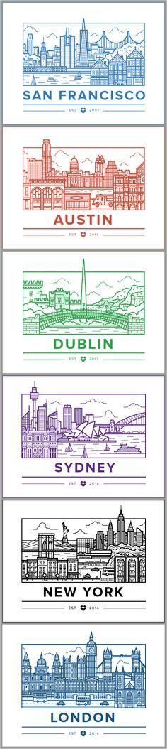 Ryan Putnam: Dropbox Offices Cities (San Francisco, Austin, Dublin,Sydney,New York City, London)
