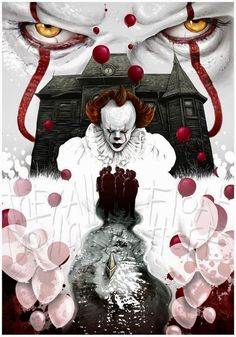 Solo Movie Poster Font against Marvel Movie Posters For Sale Le Clown, Creepy Clown, Marvel Movie Posters, Marvel Movies, Arte Horror, Horror Art, Es Stephen King, Stephen Kings, Scary Movies
