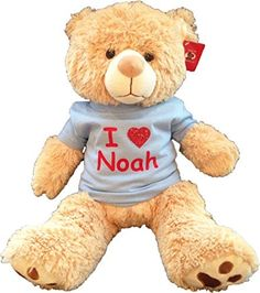 5957426adad Large Personalized Teddy Bear Blue     Be sure to check out this awesome  product