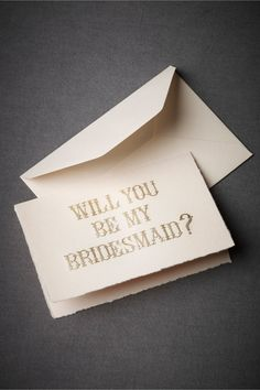 Gilded Bridesmaid Card in SHOP Décor Stationery at BHLDN