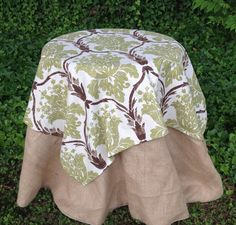 53 Square Tablecloth  Overlay by simplyfox on Etsy, $45.00
