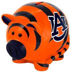 Auburn Tigers Thematic Piggy Bank