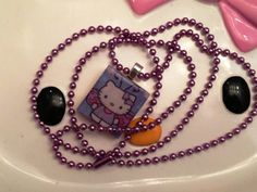 Hello Kitty Butterfly Necklace by LilypadandsandPiper on Etsy, $7.00