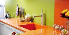 MKW Surfaces is the finest London supplier with unbeatable prices in Compac Orange quartz worktops, vanity tops and floor tiles. Call us on 0203 0788912