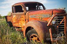 Red Diamond by Steven Bateson Fine Art Photography.  Red Diamond T truck in Kansas.  http://fineartamerica.com/featured/madrid-relic-steven-bateson.html