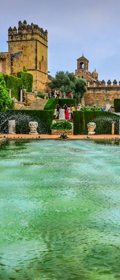 Gardens of Alcázar de los Reyes Cristianos, Córdoba, Spain Places Around The World, Oh The Places You'll Go, Places To Travel, Places To Visit, Around The Worlds, World Cities, Spain And Portugal, Destinations, Spain Travel