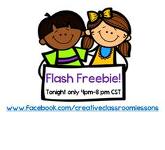 Awesome Flash Freebie on facebook, tonight only 4-8 pm CST!