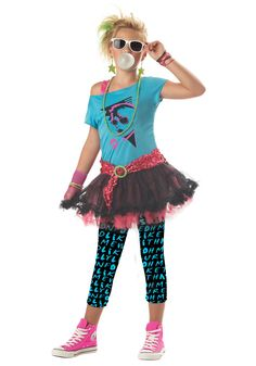 Tween 80s Valley Girl Costume - 80s Pop Star Costumes for Teens
