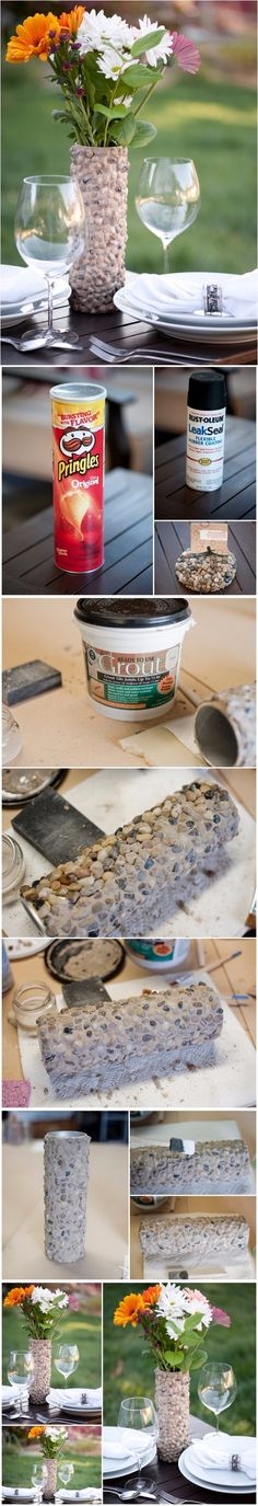 A Beautiful Handcrafted Rustic Rock Vase Made From Something Very ...   DIY Crafts Tips