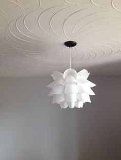 IKEA pendant, Dulux Aviator Silver on accent wall
