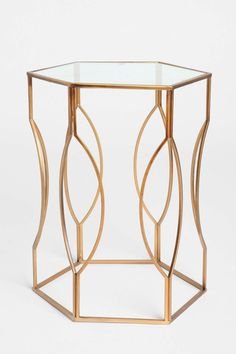 Hexagon Side Table fr. UO - for guest bedroom?