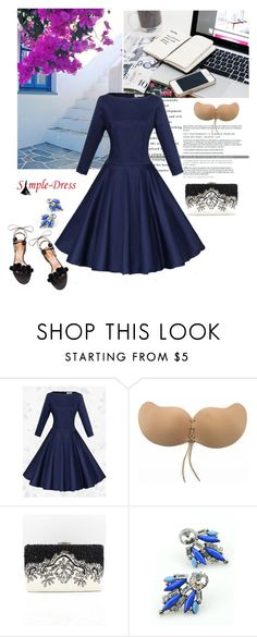 """""""Simpledress 3"""" by mell-2405 ❤ liked on Polyvore featuring Aquazzura, modern and simpledress"""