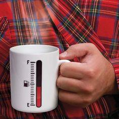 Genuine Fred Tank Up Mug Kaffeebecher NEU/OVP Hitzesensitive Becher Heat Sensing