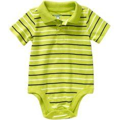 Garanimals Newborn Baby Boy Short Sleeve Stripe Polo Bodysuit