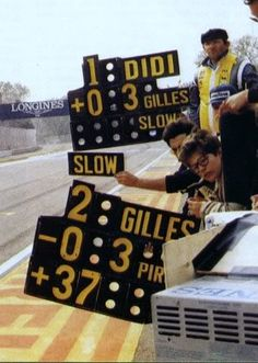 The pitboard at Imola 1982, showing that Pironi should hold his spot - the beginning of the end - still makes me sick with sadness