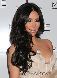 Kim Kardashian Beauty and Style Celebrity Hairstyles, Black Women Hairstyles, Wig Hairstyles, Kardashian Hairstyles, Celebrity Wigs, Fancy Hairstyles, Bridal Hairstyles, Celebrity Style, Kardashian Beauty