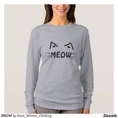 MEOW T-SHIRT #girl #girly #woman #women #fashion #vogue #moda