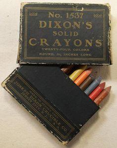 vintage crayons packaging